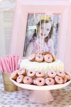 Pancakes & Pearls donut cake
