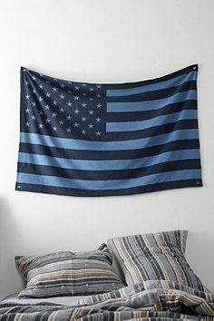 will sew something similar to this...Denim American Flag