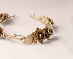 Gold floral headpiece