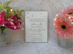 Floral Rhinestone Couture Invitation