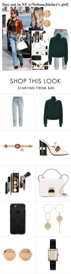 """Day out in NY w/Selena (Bieber's Girl)"" by tatabranquinha ❤ liked on Polyvore featuring Vetements, Anna October, Gucci, Bobbi Brown Cosmetics, Marni, Casetify, Victoria Beckham, Chanel, selenagomez and NYC"