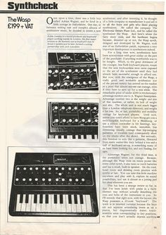 MATRIXSYNTH: Wasp Synthesizer magazine review 1979 by Robin Lum...