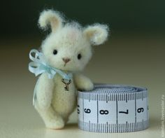 *NEEDLE FELTED ART  awe this little fella holds a key to my bunny lovin heart!