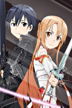 Discovered by Little Fallen Angel. Find images and videos about anime, glass and sword art online on We Heart It - the app to get lost in what you love. Schwertkunst Online, Arte Online, Online Anime, Wallpaper Animé, Deidara Wallpaper, Cool Anime Wallpapers, Animes Wallpapers, Sao Kirito And Asuna, Sao Anime