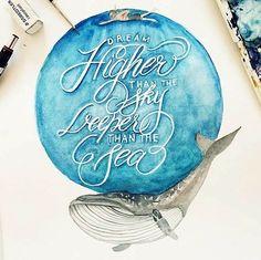 Typografie und Wasserfarben – Wohlfühlmotive von June Digan