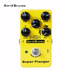 61.20$  Buy now - http://alikob.worldwells.pw/go.php?t=32738358349 - Aural Dream Super Flanger Digital Pedal provides 18 Flanger Effects