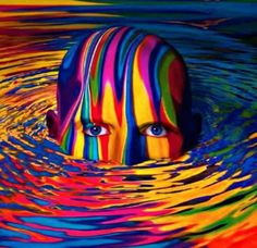 """Rainbow Art """"Dreaming in Color"""" ♥ Colors Of The World, All The Colors, Vibrant Colors, Water Colors, Taste The Rainbow, Over The Rainbow, Rainbow Face, Rainbow Fruit, Color Of Life"""