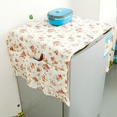Korean garden floral multifunction refrigerator dust cover, fridge towel refrigerator storage Bag K1710