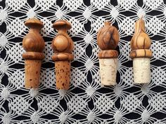 Olive Wood Corks | Bottle Stoppers | Wine Bottle Accessories | Hand carved Greek Wood | Vegan gift | Wine Champagne Present | Natural cork