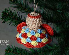 Crochet Pattern Angel Ornaments Pattern No. 074 INSTANT