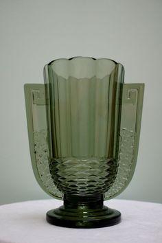 Val Saint Lambert  - Art Deco vase ' Romeo'