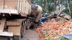 #News  Acidente entre caminhão e carreta deixa vítimas fatais em Ouro Preto, MG