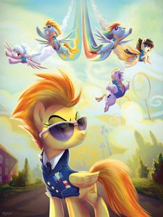 Wonderbolt Academy! Sick drawing!! To cool!! :)