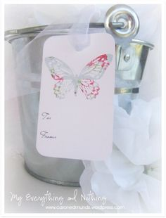 FREE printable Vintage Butterfly Gift Tags ^^ / My Everything & Nothing