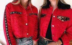 Una 🄱🄾🄼🄱🄰 estas camperas 𝓡𝓮𝓭 para el verano💣❤️ Envíos a domicilio📍 . . . . . #red #jackets #denim #animal #style Jaket Jeans, Make Your Own Clothes, Amai, Denim Outfit, Divas, Street Styles, How To Make, Jackets, Outfits
