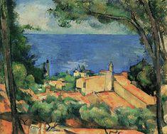 Le tableau de Georges Braque montre les maisons d'un village de pêcheurs dans les environs de Marseille en France. L'estaque par Paul Cezanne La baie de l'Estaque de Paul Cezanne