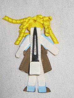 Brownie Girl Scout Barrette Clippie - the back