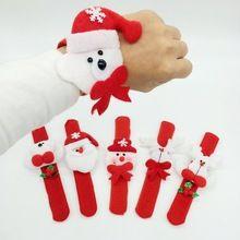 New Design Santa noel tapa pulseira círculo de natal fornece decoração do partido Xmas Gift Toy(China (Mainland))