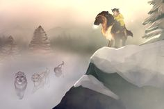 Rite of Knowledge: Blowing Snow Fantasy Wolf, Fantasy Beasts, Off White Comic, Wolf Rider, Big Wolf, Wolf Sketch, Anime Wolf, Fantasy Creatures, Animal Drawings