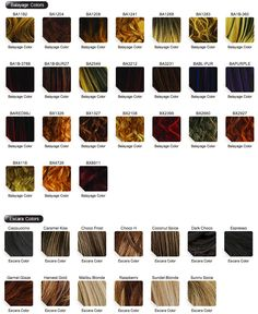Hair Color Chart  PlaitsCom  Hair    Plaits And Hair