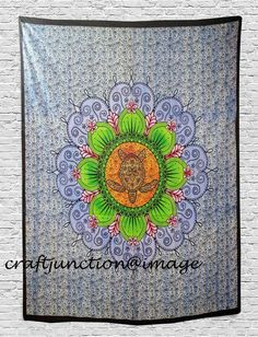 f3721afe2cc Details about Bohemian Mandala Tortoise Beach Tapestry Hippie Throw Yoga  Mat Blanket Indian