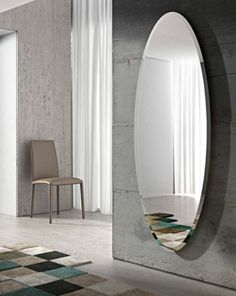 Ionico by Riflessi, oval wall-mounted mirror design RIFLESSI, Ionico collection