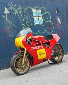 Angry Italian: 1982 Ducati race bike - Rare SportBikes For Sale Triumph Motorcycles, Cool Motorcycles, Ducati Custom, Custom Bikes, Porsche, Audi, Honda Cb, Motocross, Ducati Models