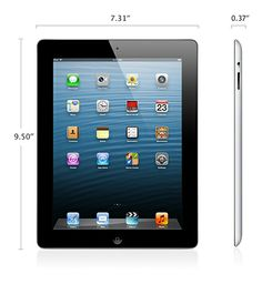 """Retail Price: $929.99 Our Price: $599.99 #Apple #iPad 4th Gen 128 GB 9.7"""" #Retina Multi-Touch Display with 128GB capacity, iOS operating system, iCoud Built-in, 2048x1535 resolution (retina display), 3.1 million pixels (4x as much as the iPad 2) and much much more. Check it out at www.Levantate.WakeUpNow.com and sign up for free for this and much more deals"""