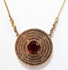 chain approx in diameter. With a fabulous fire opal center stone surrounded by of quality diamonds s. on May 2016 Fire Opals, Diamond Pendant Necklace, Quality Diamonds, Crochet Necklace, Auction, Chain, Stone, Jewelry, Rock