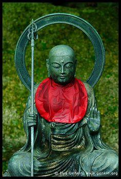 Sitting Jizo, Daisho-in Temple, Miyajima, Honshu, Japan