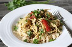 Slow cooker Mediterranean chicken - a quick to prep recipe!