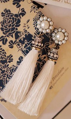Classic earrings that would go as well with ethnic or western wear, on my wishlist.  Tassles and Pearls.