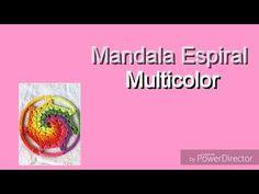 """Video tutorial para tejer un mandala multicolor con efecto """"espiral"""" a crochet."""