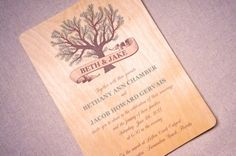 Real Wood Wedding Invitations  Tree Banner by woodchickstudios, $10.00