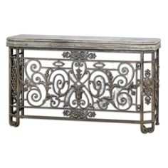 Uttermost Kissara Metal Console Table 58x17