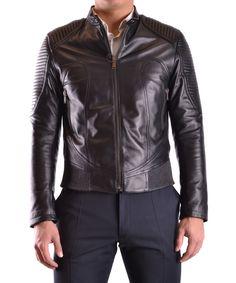 LES HOMMES Les Hommes Men'S Ura250Lua2509000 Black Leather Outerwear Jacket'. #leshommes #cloth #coats & jackets