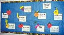 The Fruit of The Spirit Bulletin Board Display for Sunday School