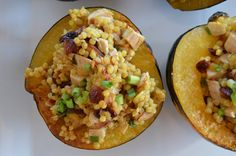 Roasted Acorn Squash with Spiced Couscous