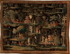The Toilet of the Princess (from a pair of Indo-Chinese scenes).  Maker:     Attributed to the workshop of John Vanderbank the Elder (Flemish, 1683–1717).  Maker:     Probably woven by Great Wardrobe (Great Queen Street, Saint Giles-in-the-Fields, London).  Designer:     Unknown.  Date:     1690–1715.  Culture:     British, London