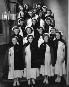 The 1953 Bachelor of Nursing class. At the time, D'Youville was a women's college, and later became co-ed in 1971.