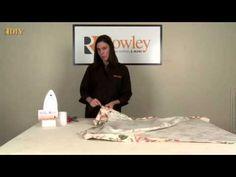 DIY-Making Drapery Panels with Buckram Header - YouTube