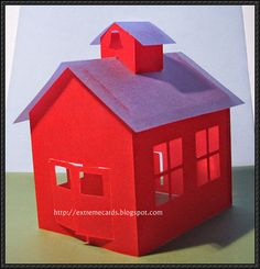 Little Red School House Free Paper Model Download - http://www.papercraftsquare.com/little-red-school-house-free-paper-model-download.html