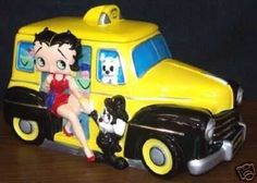 Betty Boop Taxi Limited Edition of 2400 Cookie Jar made in China by Vandor