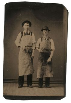 butchers Five Occupational Tintypes, - Cowans Auctions