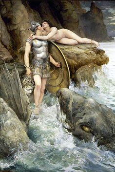 "Charles Napier Kennedy (1852-1898), ""Perseus and Andromeda"" by sofi01, via Flickr"