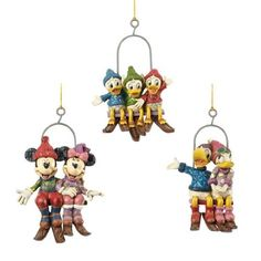 Set of 3 Disney Tradition Ornaments by Jim Shore. Made of Stone Resin and our Hand Panted Product Features Made of Stone Resin Set of 3 different Ornaments Comes in Collectors Box Features Mickey and Minnie, Donald and Daisy, HUEY, DEWEY, AND LOUIE Disney Christmas Ornaments, Peanuts Christmas, Hallmark Ornaments, Xmas Ornaments, Christmas Tree, Christmas Stuff, Figurine Disney, Disney Duck, Xmas Tree Decorations