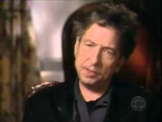 "Bob Dylan interview on ""60 Minutes"". I remember watching this and being kind of stunned (since I was about his age when he started writing) when he talked about how he didn't know where those songs came from, really how they happened, and that he didn't think he could ever write like that again. It is fantastic. And as I get older, I understand."