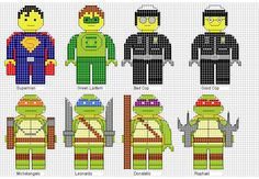 Minifigures Cross Stitch 2