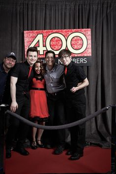 @druidDUDE, chriscolfer, and @littlelengies at Glee's 400th number celebration i