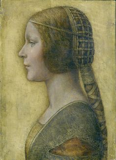 La Bella Principessa. Recently discovered to have been painted by Leonardo Da Vinci.